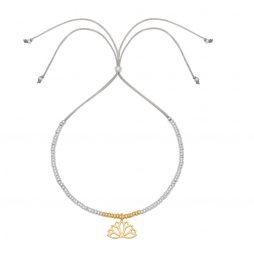 Estella Bartlett Lotus Leaf Silver Plated Louise Bracelet EB3295C