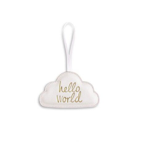 Katie Loxton Hello World Baby Decoration (white) KLB308