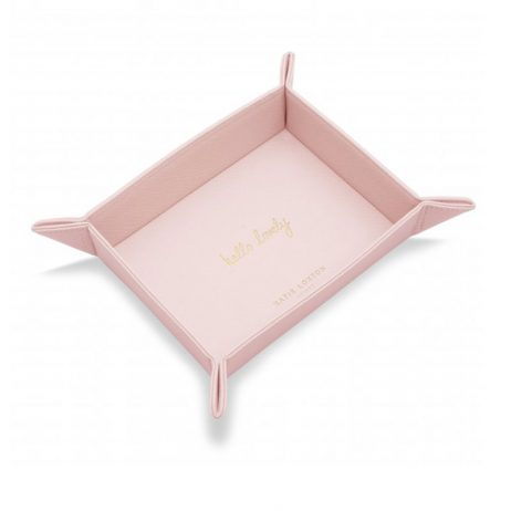 Katie Loxton Organising Tray Hello Lovely (pale pink) KLHA005