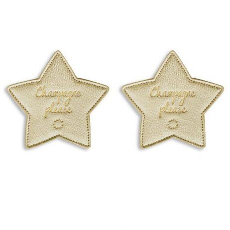Katie Loxton Champagne Please Coasters (metallic gold) KLHA011