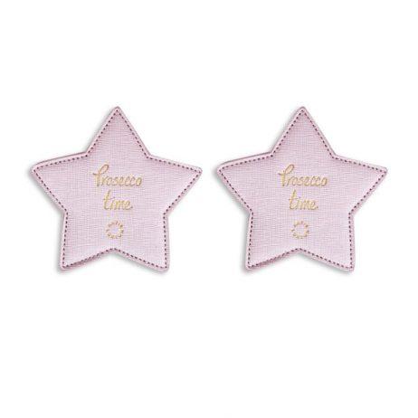 Katie Loxton Prosecco Time Coasters (metallic pink) KLHA013