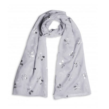 Katie Loxton Just Married Sentiment Scarf (grey) KLS072