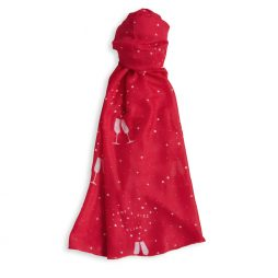 Katie Loxton Pop Fizz Clink Sentiment Scarf (fuschia) KLS101