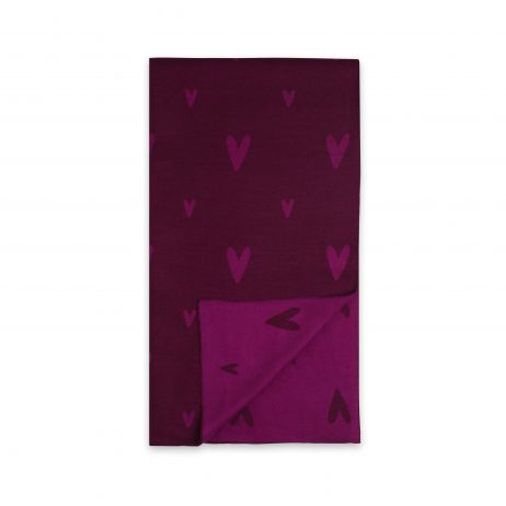 Katie Loxton Love Heart Blanket Scarf (berry pink) KLS112 - EOL
