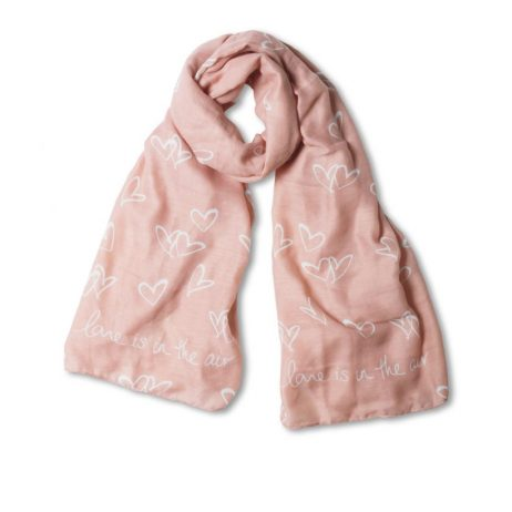 Katie Loxton Love is in the air Sentiment Scarf Pale Pink * - EOL