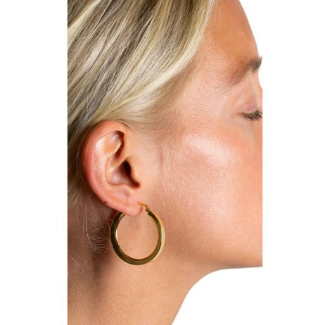 Hultquist Jewellery 18K Gold Plated Classic Annabella Hoop Earrings