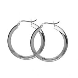 Hultquist Jewellery Sterling Silver Classic Annabella Hoop Earrings