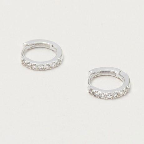 Estella Bartlett Hoop Earrings with CZ Silver Plated EB1956