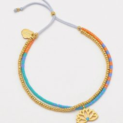 Estella Bartlett Lotus Phoebe Gold Plated Bracelet