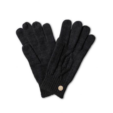 Katie Loxton Black Cable Knit Bobble Gloves KLS050
