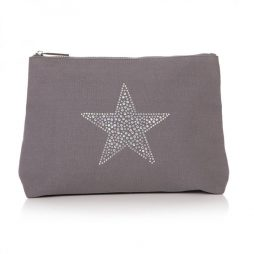 Shruti Designs Large Grey Star Burst Cosmetic Wash Bag