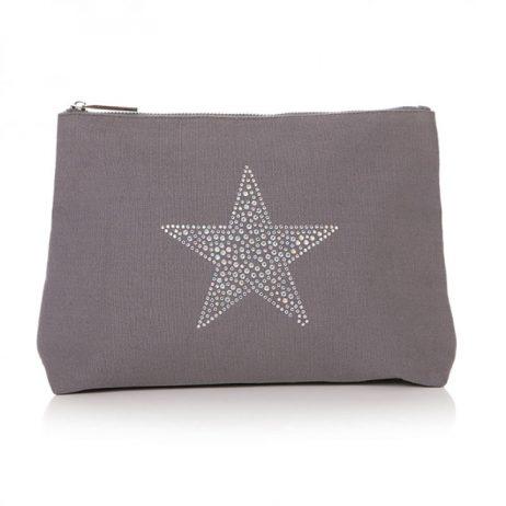 Shruti Designs Large Grey Star Burst Cosmetic Wash Bag