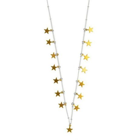 Hultquist Jewellery Silver and Gold Plated Stars Necklace
