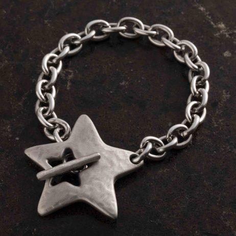 Danon Jewellery Silver Star T-Bracelet
