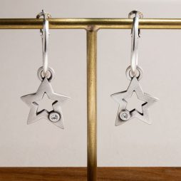 Danon Jewellery Sarin Star Hoop Earrings