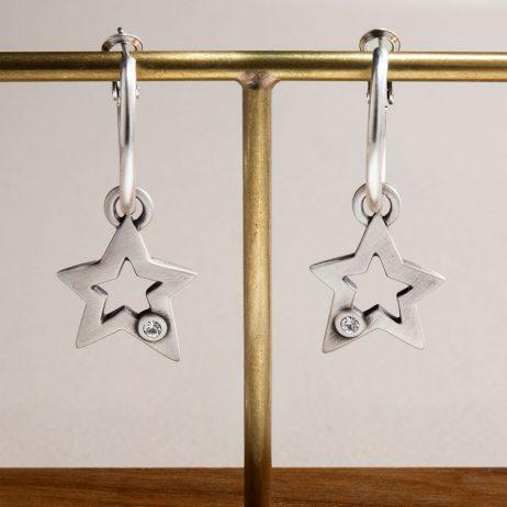 Danon Jewellery Sarin Star Hoop Earrings