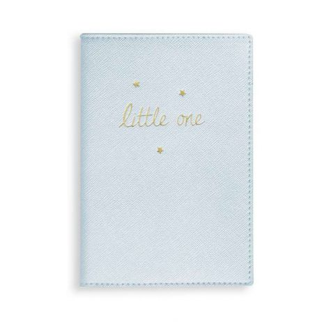 Katie Loxton Baby Passport Cover Little One (metallic blue) BA0026