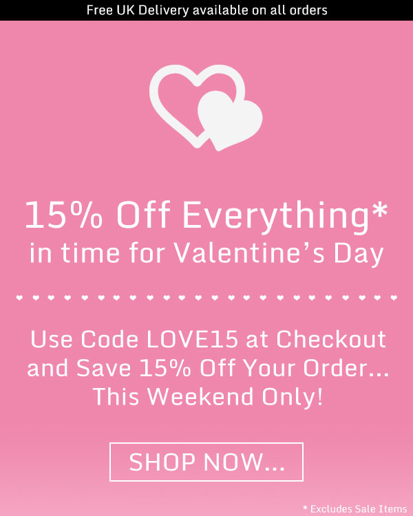 15% Off Everything This Weekend