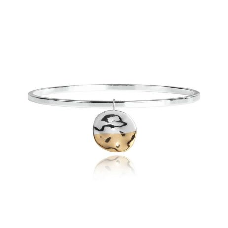 Joma Jewellery Sundipped Bangle Silver and Yellow Gold Plated - Limited Edition 2987