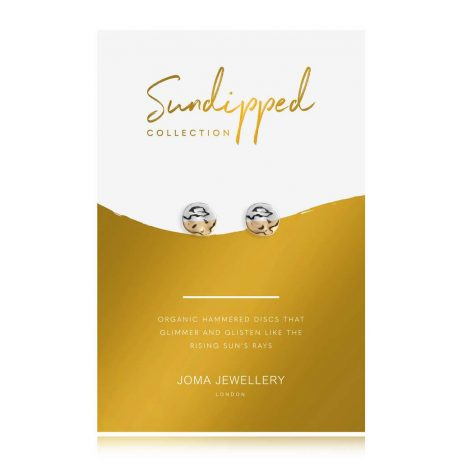 Joma Jewellery Sundipped Stud Earrings Silver and Yellow Gold Plated - Limited Edition 2988