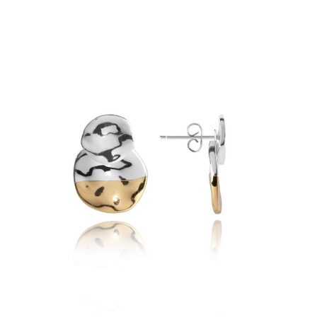 Joma Jewellery Sundipped Ear Jacket Silver and Yellow Gold Plated - Limited Edition 2990