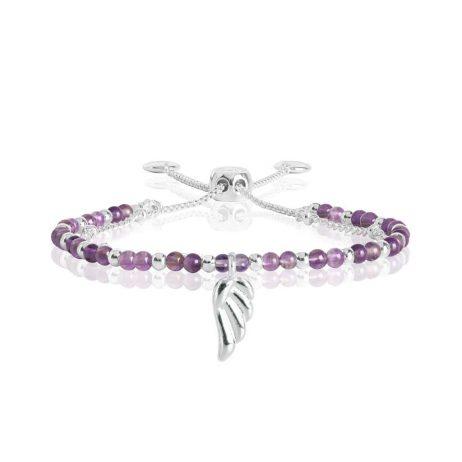 Joma Jewellery Signature Stones Family Amethyst Silver Bracelet 3023