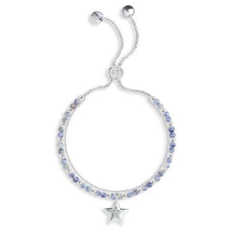Joma Jewellery Signature Stones Friendship Blue Lace Agate Silver Bracelet 3024