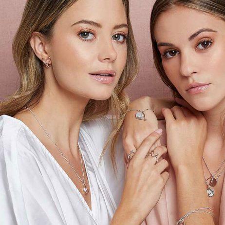 Joma Jewellery Alina Heart Stud Earrings Rose Gold 3048
