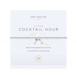 Joma Jewellery A Little Cocktail Hour Silver Charm Silver Bracelet 3094