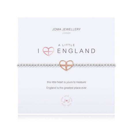 Joma Jewellery A Little I Love England Silver Bracelet 3102