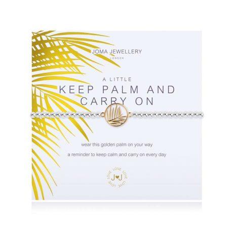 Joma Jewellery A Little Keep Palm and Carry On Bracelet 3114
