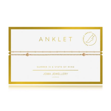 Joma Jewellery Boho Style Double Chain Gold Anklet - Limited Edition 3122