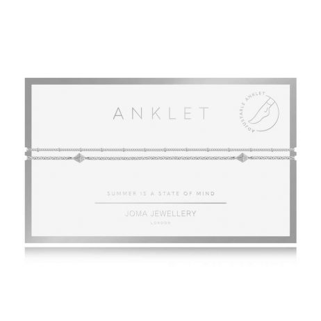 Joma Jewellery Boho Style Double Chain Silver Anklet – Limited Edition 3123