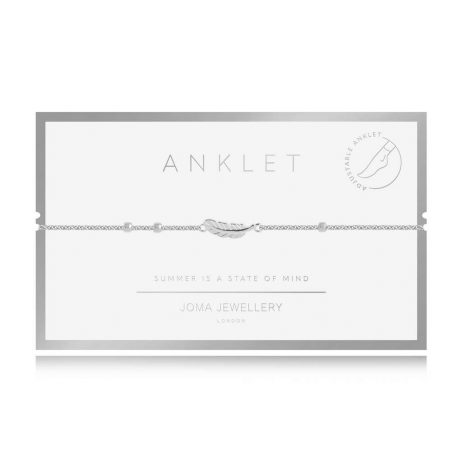 Joma Jewellery Boho Style Silver Feather Anklet – Limited Edition 3124
