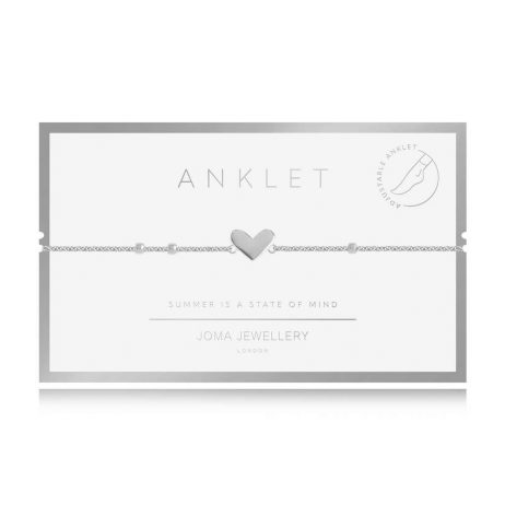 Joma Jewellery Boho Style Silver Heart Anklet - Limited Edition 3125