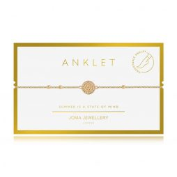 Joma Jewellery Boho Style Gold Coin Anklet - Limited Edition 3126