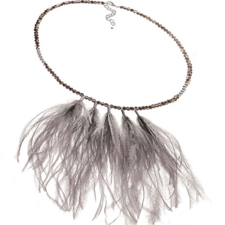 Hot Tomato Jewellery Smoke Feathers Necklace