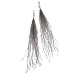Hot Tomato Jewellery Smoke Feather Earrings