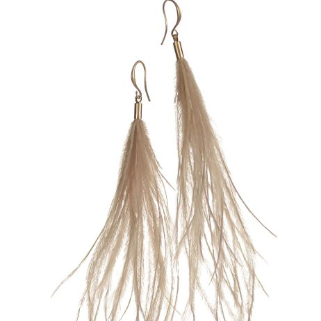 Hot Tomato Jewellery Natural Feather Earrings