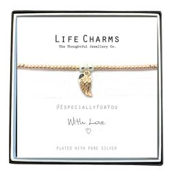 Life Charms Especially For You Rose Gold Angel Wing Bracelet EFYENC002WING
