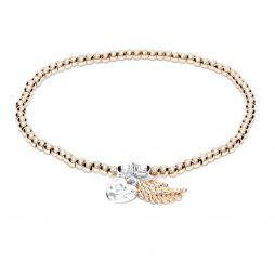 Life Charms Especially For You Rose Gold Angel Wing Bracelet