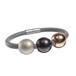 Hot Tomato Solar Grey Rubber Bracelet