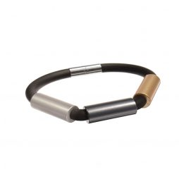 Hot Tomato Jewellery Discovery Black Rubber Bracelet