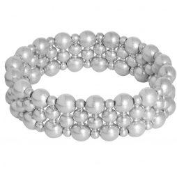 Sence Copenhagen Wide Silver Plated Ball Bracelet