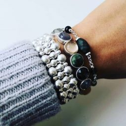 Sence Copenhagen Wide Silver Plated Ball Bracelet K399