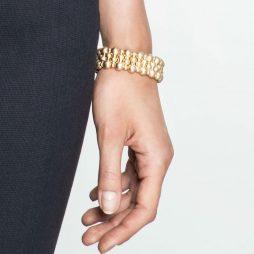 Sence Copenhagen Wide Gold Plated Ball Bracelet K400