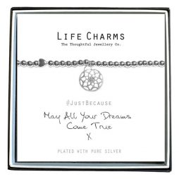 Life Charm Just Because Dreams Come True Silver Bracelet