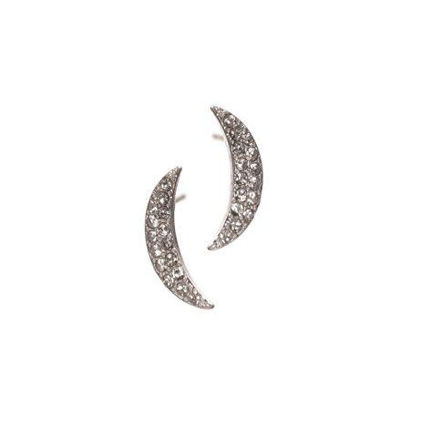 Hot Tomato Jewellery Moon Silver Stud Earrings - EOL