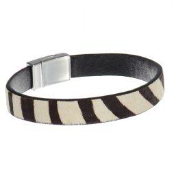 Hot Tomato Jewellery Zebra Print Bracelet Monochrome