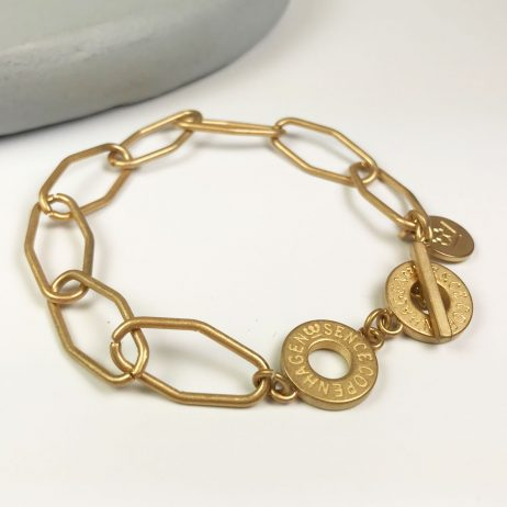 Sence Copenhagen Essentials Gold Plated Links Bracelet